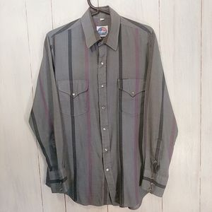 Miller Westernwear Pearl Snap Button Up Size 15.5